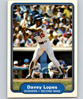 1982 Fleer #12 Davey Lopes Dodgers