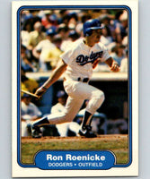 1982 Fleer #19 Ron Roenicke Dodgers