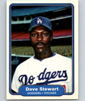 1982 Fleer #24 Dave Stewart RC Rookie Dodgers