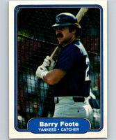 1982 Fleer #34 Barry Foote Yankees