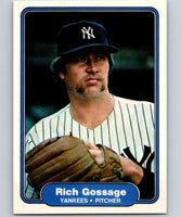 1982 Fleer #37 Rich Gossage Yankees