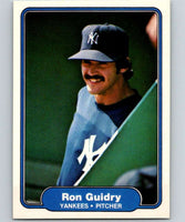 1982 Fleer #38 Ron Guidry Yankees