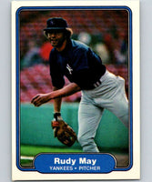 1982 Fleer #41 Rudy May Yankees