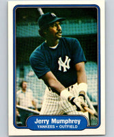 1982 Fleer #43 Jerry Mumphrey Yankees