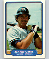 1982 Fleer #47 Johnny Oates Yankees