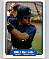 1982 Fleer #49 Willie Randolph Yankees
