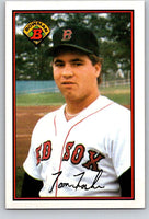 1989 Bowman #20 Tom Fischer RC Rookie Red Sox MLB Baseball