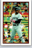 1989 Bowman #33 Jim Rice Red Sox MLB Baseball