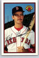 1989 Bowman #34 Mike Greenwell Red Sox MLB Baseball