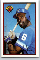 1989 Bowman #124 Willie Wilson Royals MLB Baseball