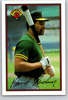 1989 Bowman #200 Dave Henderson Athletics MLB Baseball