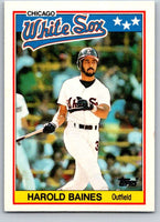 1988 Topps UK Minis #1 Harold Baines White Sox MLB Baseball