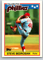 1988 Topps UK Minis #2 Steve Bedrosian Phillies MLB Baseball