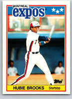 1988 Topps UK Minis #8 Hubie Brooks Expos MLB Baseball