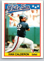 1988 Topps UK Minis #9 Ivan Calderon White Sox MLB Baseball