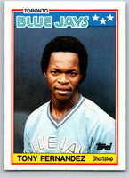 1988 Topps UK Minis #23 Tony Fernandez Blue Jays MLB Baseball