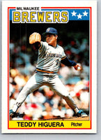 1988 Topps UK Minis #35 Teddy Higuera Brewers MLB Baseball