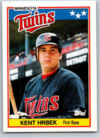 1988 Topps UK Minis #37 Kent Hrbek Twins MLB Baseball