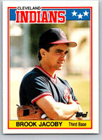 1988 Topps UK Minis #38 Brook Jacoby Indians MLB Baseball