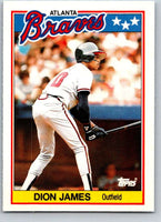 1988 Topps UK Minis #39 Dion James Braves MLB Baseball