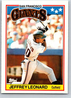 1988 Topps UK Minis #43 Jeffrey Leonard Giants MLB Baseball
