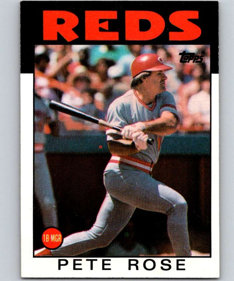 1986 Topps #1 Pete Rose Reds MLB Baseball
