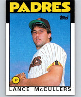 1986 Topps #44 Lance McCullers RC Rookie Padres MLB Baseball