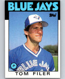 1986 Topps #312 Tom Filer Blue Jays MLB Baseball