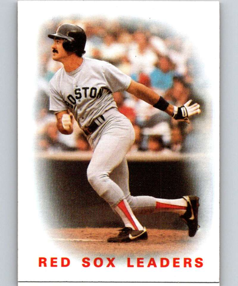 1986 Topps #396 Dwight Evans Red Sox Red Sox Leaders MLB Baseball