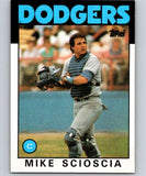1986 Topps #468 Mike Scioscia Dodgers MLB Baseball
