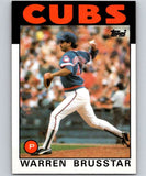 1986 Topps #564 Warren Brusstar Cubs MLB Baseball