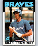 1986 Topps #698 Brad Komminsk Braves MLB Baseball