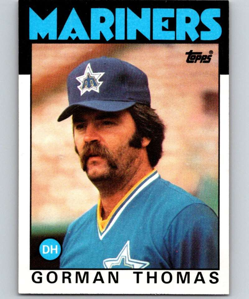 1986 Topps #750 Gorman Thomas Mariners MLB Baseball