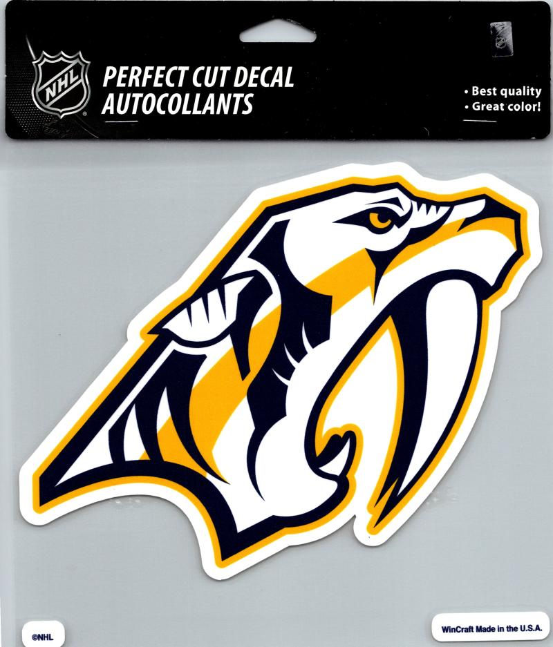 "Nashville Predators Perfect Cut 8""x8"" Large Licensed Decal Sticker"