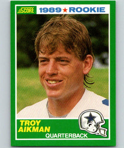 1989 Score #270 Troy Aikman MINT RC Rookie Football NFL 03057