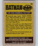 1989 Topps Batman #26 The Axis Chemical factory