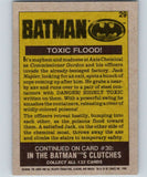 1989 Topps Batman #29 Toxic Flood!