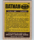 1989 Topps Batman #42 Call Me Joker!