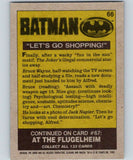 1989 Topps Batman #66 Let's Go Shopping!