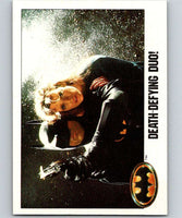 1989 Topps Batman #83 Death-Defying duo!