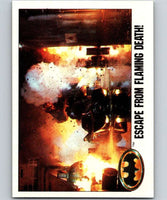 1989 Topps Batman #100 Escape from Flaming Death!