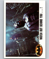1989 Topps Batman #115 Watch out Behind you