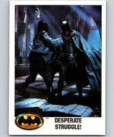 1989 Topps Batman #117 Desperate Struggle!