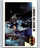 1989 Topps Batman #121 No Match for Batman!