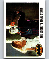1989 Topps Batman #123 The Joker's Final Stand!