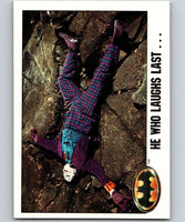 1989 Topps Batman #130 He Who Laughs Last...