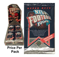 1991 NFL Upper Deck Football Trading Cards Sealed PACK - 12 Cards Per Pack
