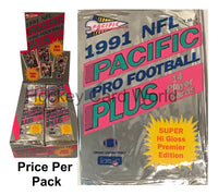 1991 NFL Pacific Pro Football Trading Cards Sealed PACK - 14 Cards Per Pack