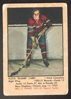 1951-52 Parkhurst #12 Floyd Curry RC Rookie Canadiens Vintage Hockey