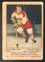 1951-52 Parkhurst #18 Ross Lowe RC Rookie Canadiens Vintage Hockey